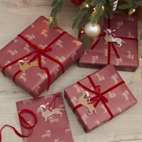 Kit Papel, Fitas e Etiquetas Natal