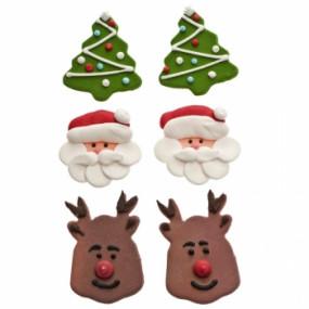 Decorações em Açúcar Natal - conj. 6