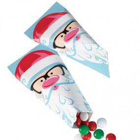 "Conj. 6 Pacotinhos  Pai Natal ""Santa"""