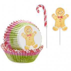 Kit Cupcakes Natal Ginger - Conj. 24