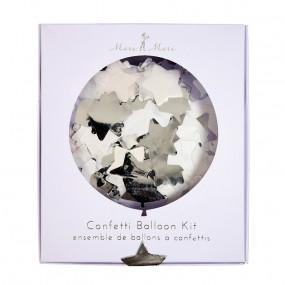 Kit Balões Transparentes Confetis Estrelas