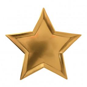 Pratos Estrela Dourada - conj.8