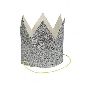 Coroas Glitter Prateado - conj.8