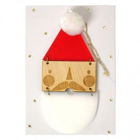 Decoração Pai Natal Acrilico e Madeira