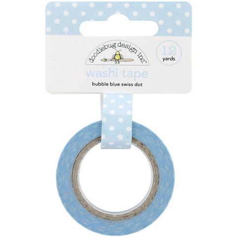 Washi Tape Azul Claro Bolinhas