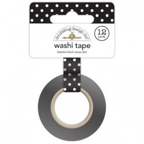 Washi Tape Preta Bolinhas