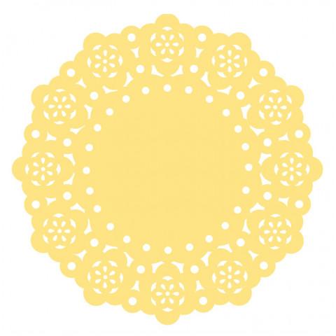 75 Mini Naperons Amarelo