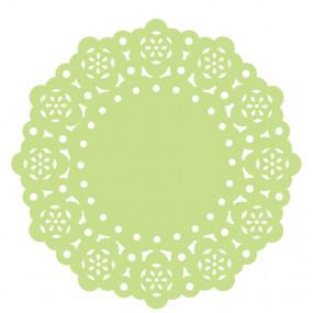 75 Mini Naperons Verde Alface