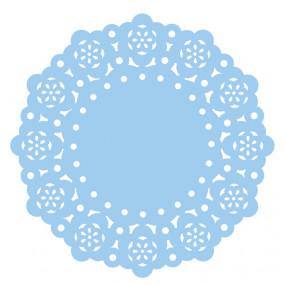 75 Naperons Azul 11cm