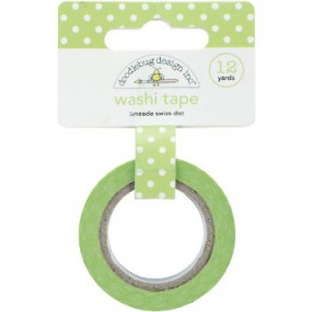 Washi Tape Verde Alface Bolinhas