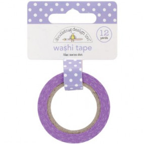 Washi Tape Lilas Bolinhas