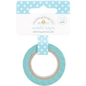 Washi Tape Verde Agua Bolinhas