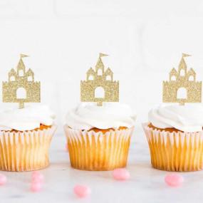 Toppers Castelo Princesa Cupcakes