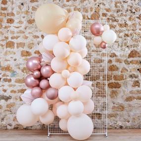 Arco Balões Branco Pêssego e Rosegold