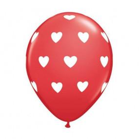Balão Vermelho Corações