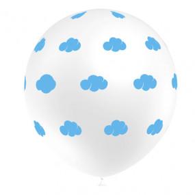 5 Balões Brancos Nuvens