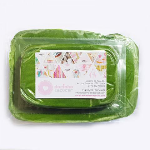 Pasta de Açúcar Verde Folha 250GR