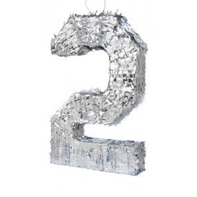 Pinhata Número 2 - 3D Prata