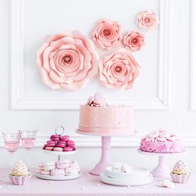 Flores Papel Rosa - conj.5