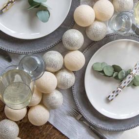 Grinalda Cotton Balls Silver Vanilla 10 Bolas