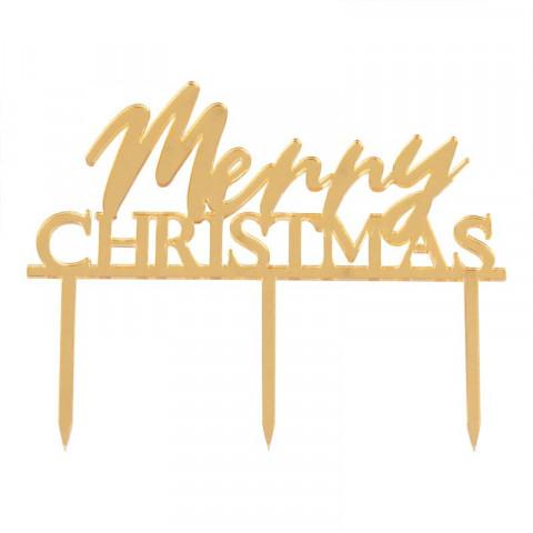 Topo Bolo Merry Christmas GOLD