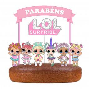 Topo Bolo LOL Surprise Pastel