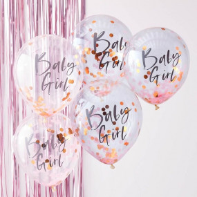 5 Balões Baby Girl