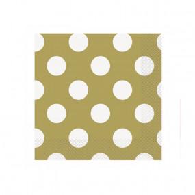 Guardanapos Dourado Bolas P