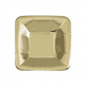 Prato Taça Pequena Foil Ouro