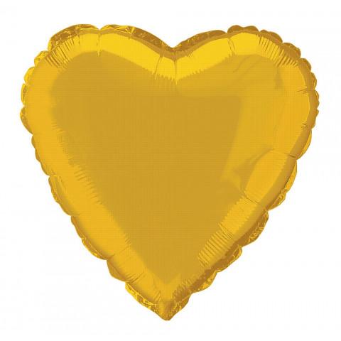 Balão Coração Dourado 46cm