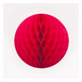 Bola de Papel Vermelha 20cm