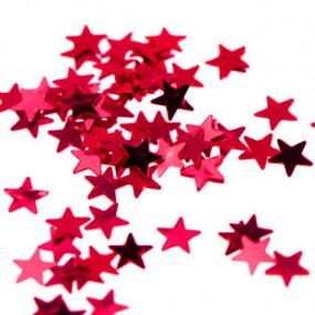 Confetis Estrelas Vermelhas