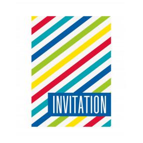 Convites Riscas Coloridas