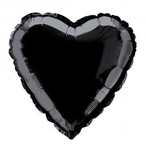 Balão Coração Preto 46cm