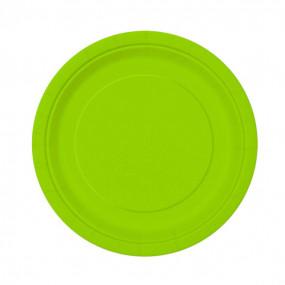 Pratos Verde Neon - conj.20