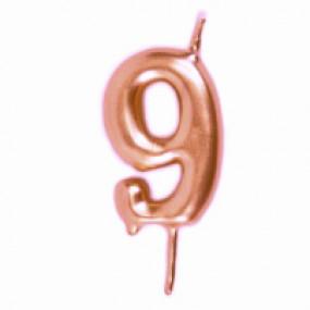 Vela Nº Rosegold - 5.5cm