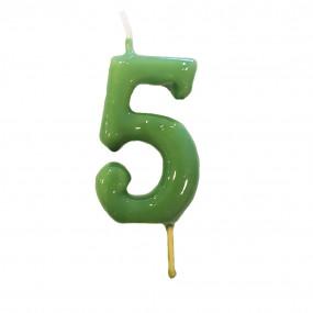 Vela Nº Verde - 5.5cm