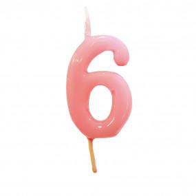 Vela Nº Rosa Bebé - 5.5cm