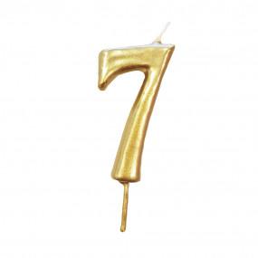 Vela Nº Dourado - 5.5cm