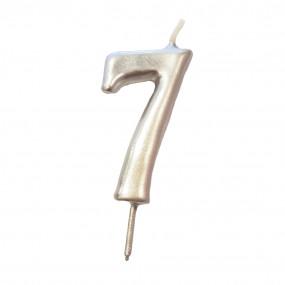 Vela Nº Prateado - 5.5cm