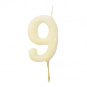 Vela Nº Branco - 5.5cm