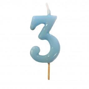 Vela Nº Azul Bebé - 5.5cm
