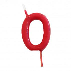 Vela Nº Vermelho - 5.5cm